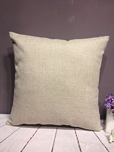 onker cotton linen square decorative throw pillow case cushi