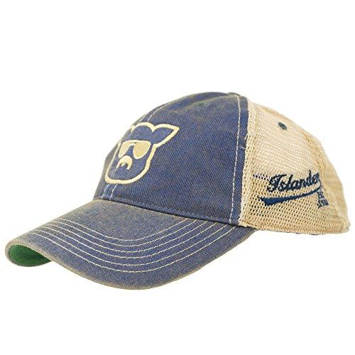 Islanders Pig Face Old Favorite Trucker Hat, Blue, OS