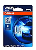 OSRAM COOL BLUE INTENSE W5W halogen, position and number plate light, 2825UHCBI-02B, 12V, double blister (Pack of 2)