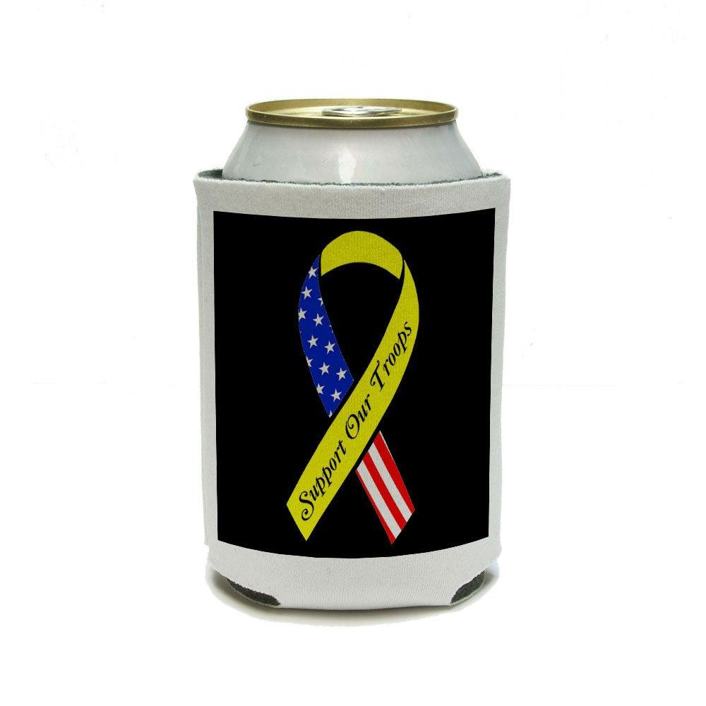 Apoyo a nuestras tropas cinta - amarillo y bandera en negro latas ...