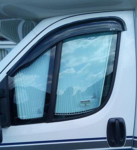 STX D010 - FIAT DUCATO 2006 ON WIND DEFLECTORS - WIND VISORS - RAIN SHIELDS - EXTERNAL FIT