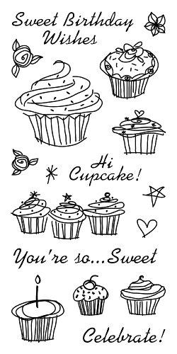 (Inkadinkado Birthday Cupcake Clear Stamps)