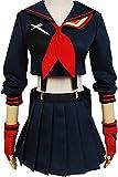 Ya-cos Halloween KILL la KILL Girl's Ryuko Matoi Dress Suit Cosplay Costume,Navy,Womens: X-Small