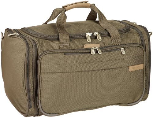 Briggs and Riley Expandable Duffle,Olive,11.8×21.5×13.5, Bags Central
