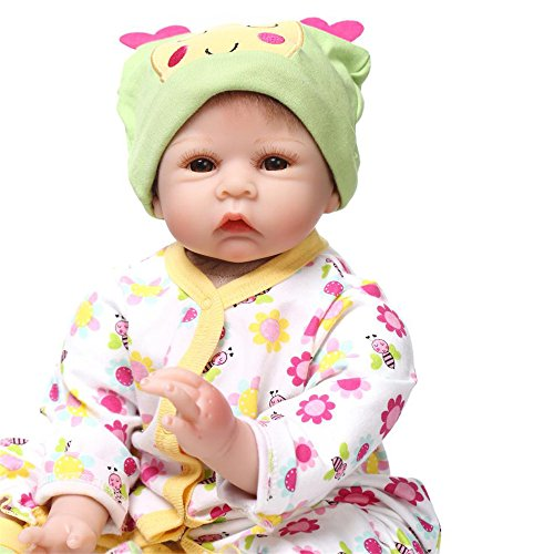 [Fan Moon Baby Doll Soft Silicone Bees Pattern Magnetic Mouth 22-Inch] (Toddler Annie Costumes)