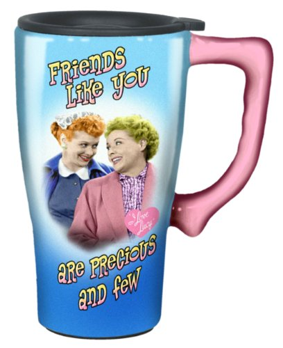 I Love Lucy Travel Mug, Blue