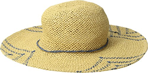 San Diego Hat Company Women's Woven Paper Sun Brim Hat, Natural, Blue, One -