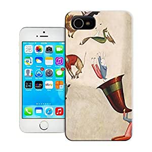 Unique Phone Case Japanese artist Takeo Takei illustrates a a cute image of animals this art work for Aesops Fables 643x835 Hard Cover for iPhone 4/4s cases-buythecase