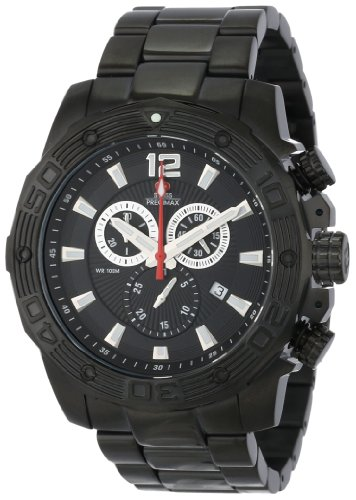 Swiss Precimax Men's SP13262 Legion Pro Black Dial with Black Stainless Steel Band Watch