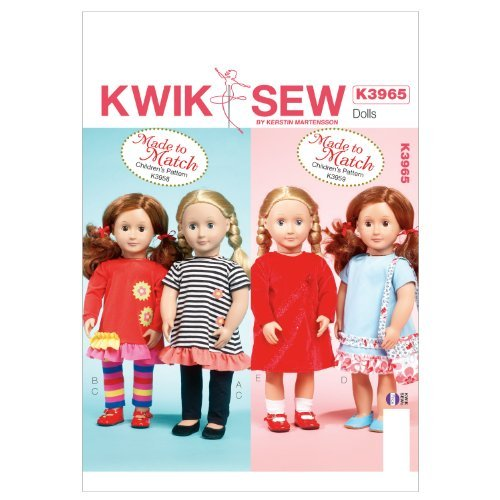 Kwik Sew Patterns K3965 Clothes for 18-Inch Doll Sewing Template, One Size / One Size Only. Includes pattern pieces and sewing instructions. Made by Kwik Sew. Copyright? 2038. Printed in the USA. . by Generic