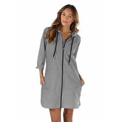 Amazon.com  Speedo Women s Aquatic Fitness Robe Cover Up with Hood ... 674440a75