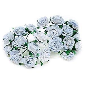"1/2"" Powder Blue Mulberry Paper Flowers, Rose Flowers, Paper Flowers, Blue Flowers, Floral Crown Flowers, Headband Flowers, Floral Headband Supply, DIY Wedding, Wedding Decor, 50 Pieces 30"