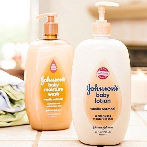 Johnson's Baby Vanilla Oatmeal Moisture Wash & Lotion Set -