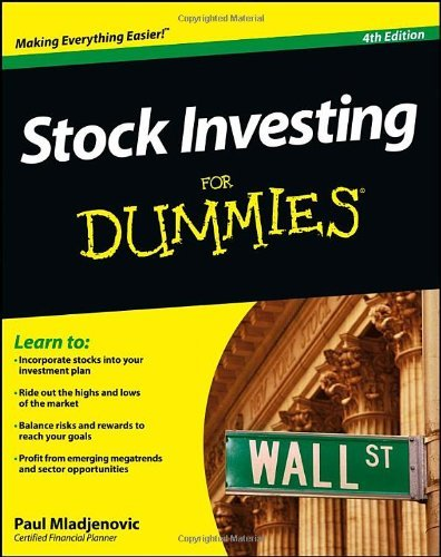 Stock Investing For Dummies by Paul Mladjenovic (5-Feb-2013) Paperback