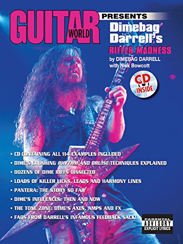 Guitar World Presents Dimebag Darrell's Riffer Madness: Book & -