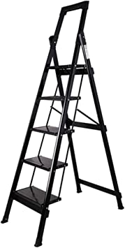 Escalera plegable Escalera de la biblioteca, almacén Escalera de metal plegable Escalera de fotografía al aire libre Escalera de tres pasos para lavado de autos portátil Multifuncional: Amazon.es: Bricolaje y herramientas
