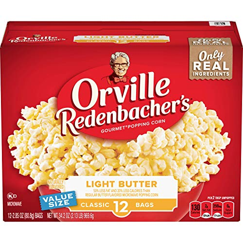 Orville Redenbacher's Light Butter Microwave Popcorn, 2.85 Ounce Classic Bag, 12-Count, Pack of ()