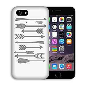 Casestars design Tribe arrow Arrow pattern Retro direction Hunter Protective 3D White Case Cover for Apple iPhone 6 plus 5.5""