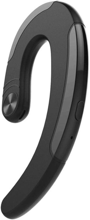 Z-XFY Auriculares de conducción ósea, Bluetooth Wireless Headset Individual Doble Colgante Impermeable del oído de Negocios inalámbrico en la Oreja Auriculares Auriculares Deportes,Monauralblack