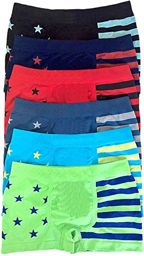 ToBeInStyle-Boys-Pack-of-6-Seamless-Boxer-Briefs-Stars-and-Stripes