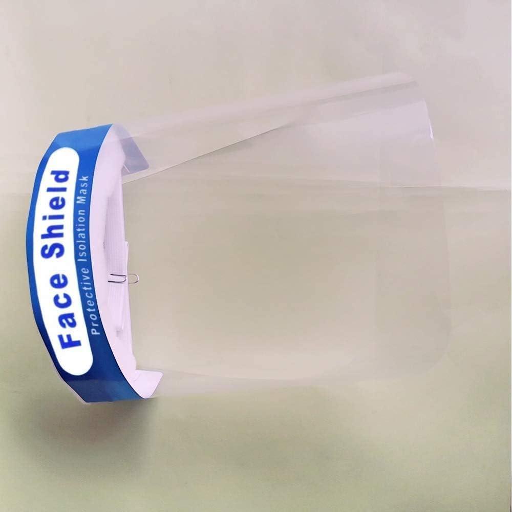 Escudo desechable de aislamiento facial completo Sombrero protector anti-saliva M/áscara facial protectora M/áscara facial de seguridad M/áscara transparente anticontaminaci/ón XHA M/áscaras faciales