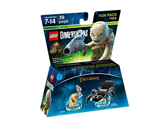 LEGO Dimensions Fun Pack- Gollum The Lord of the Rings 71218 & LEGO Dimensions Fun Pack Gimli Lord of the Rings 71220 ( 2 Set Bundle )