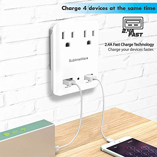 2000 W Travel Adapter Kit w/ 2 USB Ports & US Outlets - International Travel Adapter Plug Europe US UK China Ireland - Smart 2.4 A USB Electrical Charger Dual Voltage Device Sublimeware by SublimeWare (Image #6)