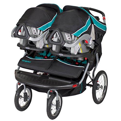 51%2BzsZUqwmL - Baby Trend Navigator Double Jogger Stroller, Tropic