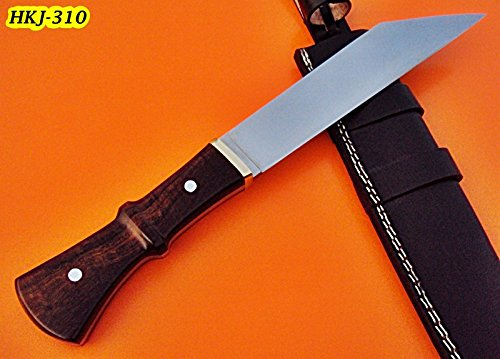 Poshland Knives REG-HKJ 310 – Custom Handmade High Carbon Steel SEAX Knife – Stunning Rose Wood Handle