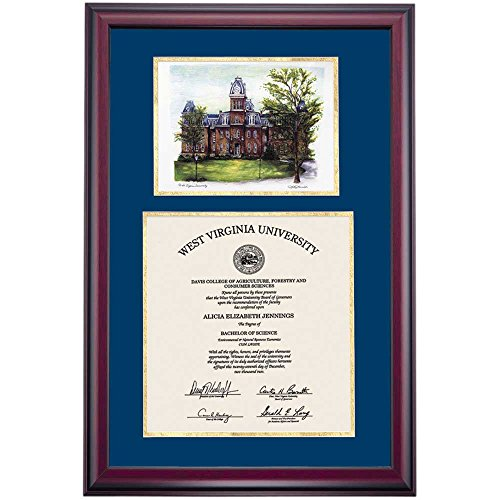 Campus Linens West Virginia WVU Mountaineers Diploma