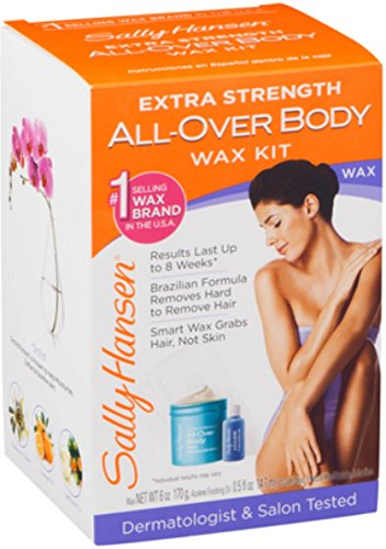 (Sally Hansen Extra Strength All-Over Body Wax Hair Removal Kit 1 ea (Pack of 4))