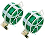 NKTM Twist Tie with Cutter Garden Training 328 Feet Heavy Duty Green Coated Plant (2 Pack)