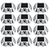 Happybuy 12 Pcs Dock Lights 6 White LED Bulbs Solar Dock...