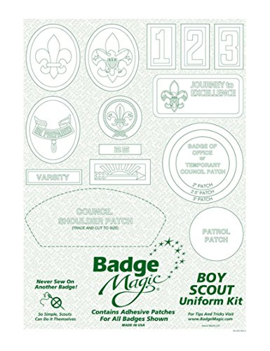 Boy Scout Badge Magic - Peel and Stick Kit for Boy Scout Uniform by Boy Scouts of America