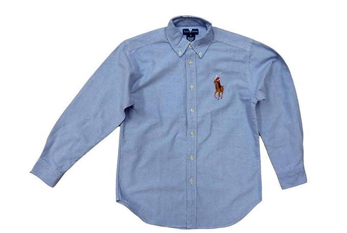 060c41e16 Ralph Lauren Big Pony Baby Boy Shirt Oxford Cotton LS 0-2yrs White Blue  Yellow Pink (Size on Label 24M (UK 9-18mths), Blue): Amazon.co.uk: Clothing