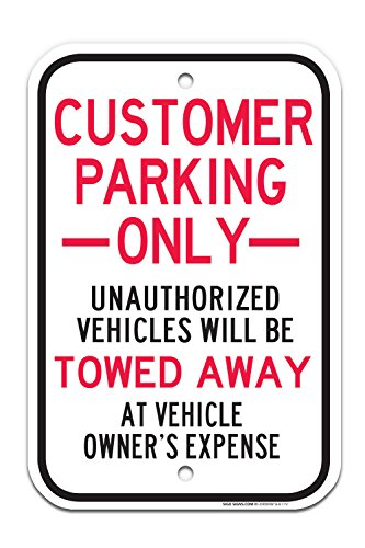 Customer Parking Only Sign, Large 12