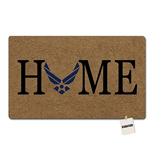 (SGBASED Door Mat Home Us Air Force Mat Entrance Floor Mat Rubber Non Slip Backing Entry Way Doormat Non-Woven Fabric, 23.6