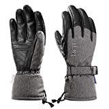MCTi Winter Ski Gloves Waterproof Snowboard Snow Leather Palm 3M Thinsulate Insulated Warm