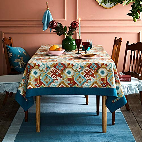 YHEGV Soopo Retro Ethnic Style tablecloths,European American Mysterious  Totem tablecloths for Rectangle Square for Dining Table Restaurant  Kitchen-A ...