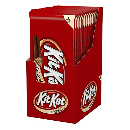 KIT KAT Candy Bar, Milk Chocolate Covered Crisp Wafers, 4.5 Ounce Bar (Pack of 12) (Halloween Candy)