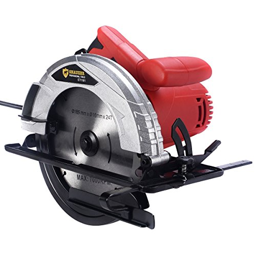 New 10Amp 7-1/4'' Bevel Adjustable Electric Circular Saw Working Power Tool by Apontus