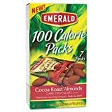 Emerald 100 Calorie Pack Dark Chocolate Cocoa Roast Almonds Packs Box 0.63 OZ (Pack of 24)