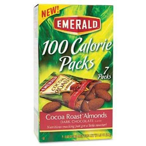 Emerald 100 Calorie Pack Dark Chocolate Cocoa Roast Almonds Packs Box 0.63 OZ (Pack of 24)