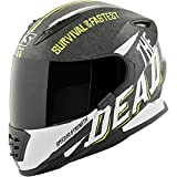 Speed and Strength The Quick and The Dead Adult SS1310 Street Motorcycle Helmet - Matte Hi-Vis Yellow/White/Black/Medium
