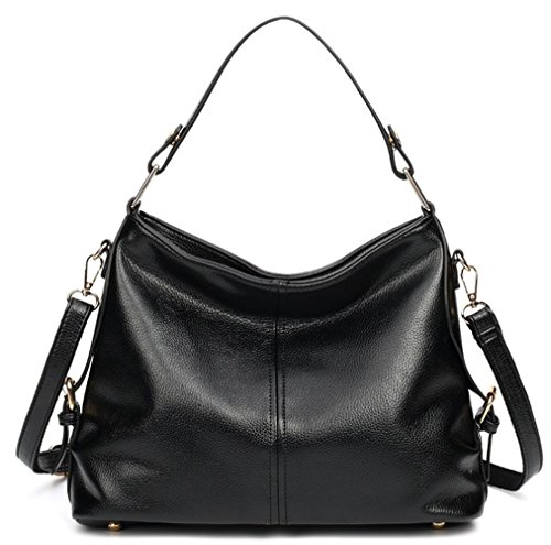 Bag Black Handbag Purse Durable Hobo Leather from Retro Covelin Women's Shoulder pwqH4x40