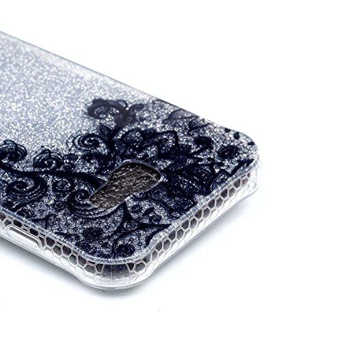 Funda Galaxy A3 (2017) , Extremamente Fina y Ligera de Perfecta para Samsung A3 (2017) la Más Delgada Glitter Funda TPU Silicona Protectora de Parachoques con una Cubierta Trasera Semitransparente Caj A-03