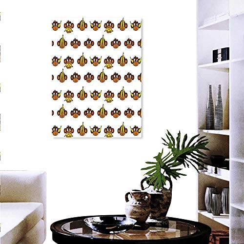 Home Decoration Funny Monkeys Bananas Various Expressions Animal Comedy Design Wall Stickers 16