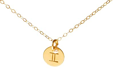 colors product zodiac necklace pendant gemini in the original twins sign jewelry