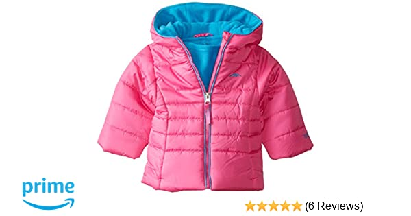 c68b58d13 Amazon.com  Pacific Trail Baby Girls  Solid Puffer Jacket Neck ...