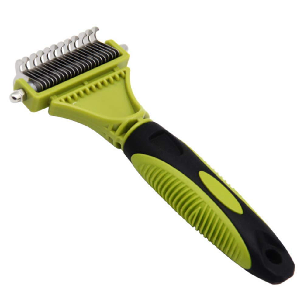 WXQKD Pet Carding Machine,Pet Grooming Tool, 2 Sided Undercoat Rake for Cats & Dogs,Safe Dematting Comb for Easy Mats & Tangles Removing, No More Nasty Shedding